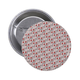 Red Cherry Pattern Buttons