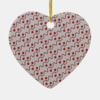 Red Cherry Pattern Ceramic Heart Decoration