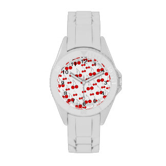 Red Cherry Pattern. Watches