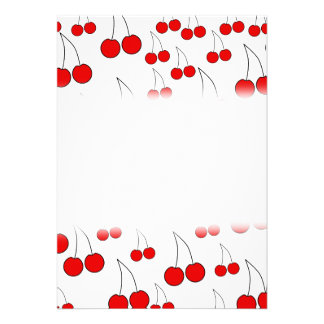 Red Cherry Pattern. Personalized Announcements