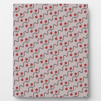 Red Cherry Pattern Display Plaques