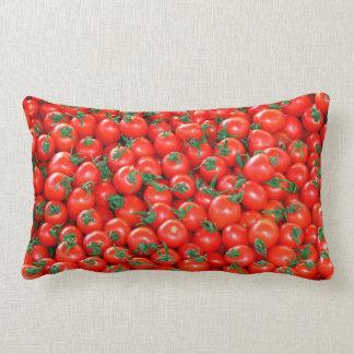 Red Cherry Tomatoes Pattern Lumbar Cushion