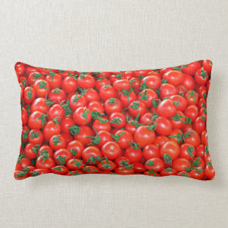Red Cherry Tomatoes Pattern Lumbar Pillow