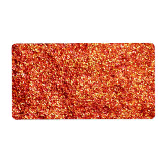 Red Chilli Hot and Spice Shipping Label