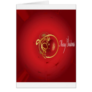 Red Christmas Jingle Bells Have a Blessed Nice Day Card