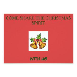 RED CHRISTMAS MISTLETOE INVITATIONS