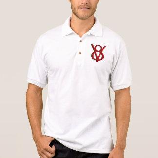Red Chrome V8 Logo Polo T-shirt