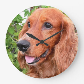 red cocker-spaniel-.png large clock