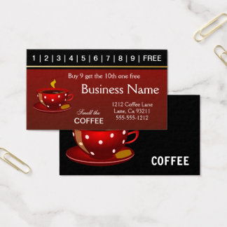 Red Coffee Punch Cards