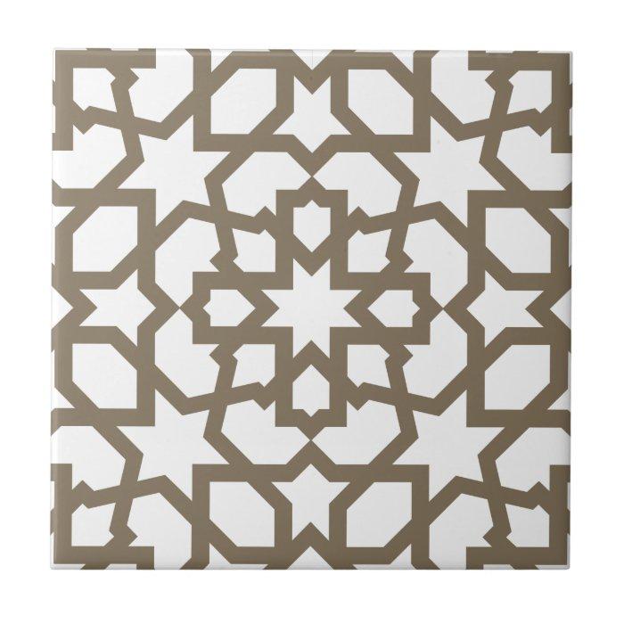 Red color oro de mosaico de geometría marroquí en small square tile  Zazzle