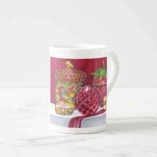 Red Composition No. 5 Bone China Mug