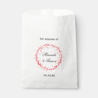 Red Confetti Wedding - Favor Bag Favour Bags