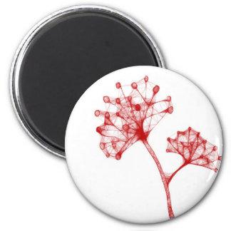 red cool design flower magnet