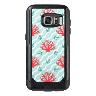 Red Coral Pattern 1 OtterBox Samsung Galaxy S7 Case