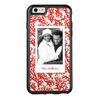 Red Coral Pattern | Your Photo & Name OtterBox iPhone 6/6s Plus Case