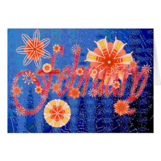 """Red corals, """"February"""" card"""