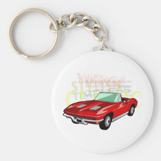 Red Corvette Stingray or Sting Ray sports car Key Ring
