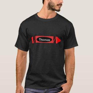 Red Crayon Customizable T-Shirt