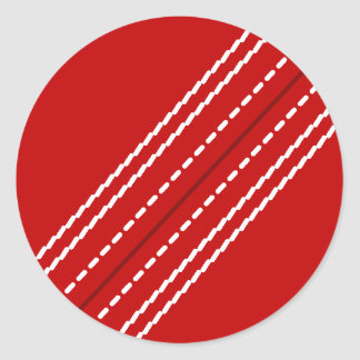 Red cricket ball stickers | Customizable with text