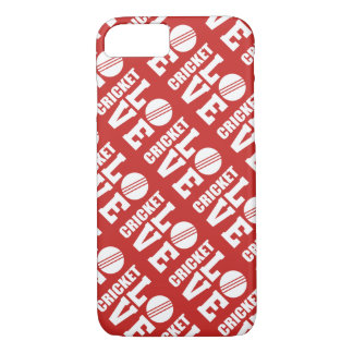 Red Cricket Love Pattern iPhone 8/7 Case