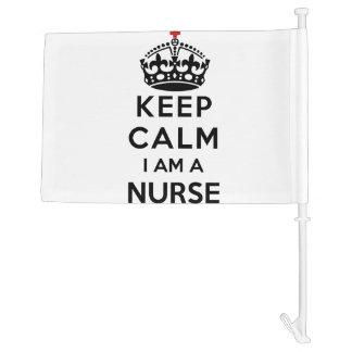 red cross crown Keep Calm I am a Nurse Car Flag