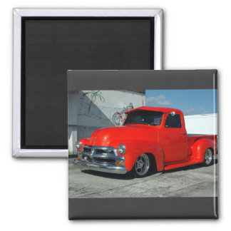 Red customised Pickup Truck Magnet