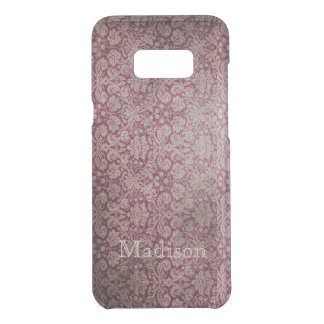 Red Damask Grunge Floral And Name Uncommon Samsung Galaxy S8 Plus Case