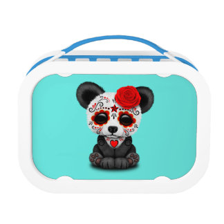 Red Day of the Dead Panda Lunch Box