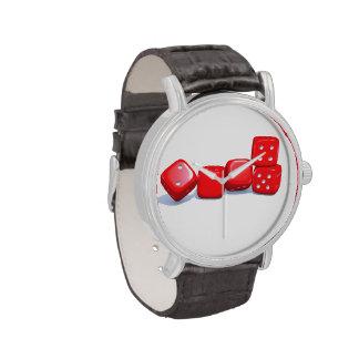 Red die watch dice