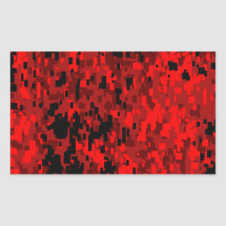 Red Digital Camo (AOM Design) Rectangular Sticker