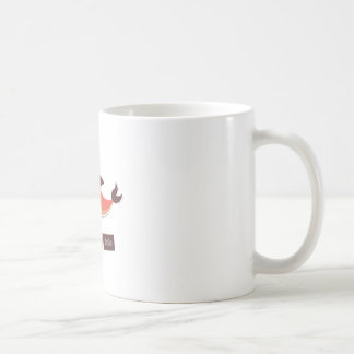 Red Dolphin Coffee Mug