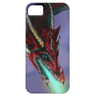 Red Dragon Fire Flames Magic Cute Crimson Barely There iPhone 5 Case