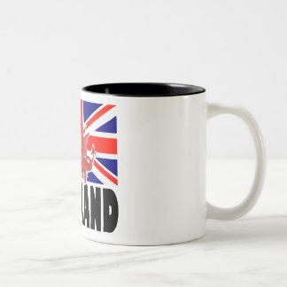 Red Dragon of England Two-Tone Coffee Mug