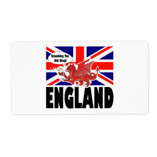 Red Dragon of Wales at Tea Time Shipping Label