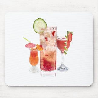 Red Drinks Mouse Pad