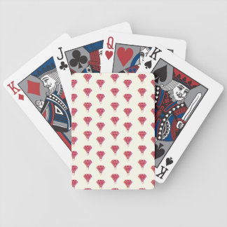 RED DRIPPING Blue, Red & Gray Playing Card