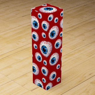 Red eyeball pattern wine gift box