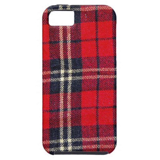 red Fabric Checks modern design trend latest style iPhone 5 Cover