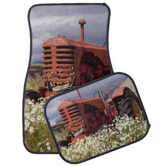 Red Farm Tractor Car Floor Mats
