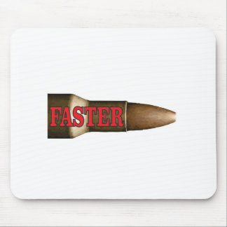 red faster bullet mouse pad