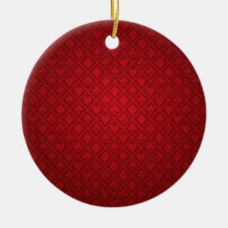 Red Felt Poker Table Design Christmas Ornament