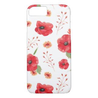 Red Field Flowers Pattern iPhone 8/7 Case