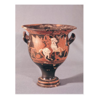 Red-figure krater depicting amazons and griffins postcard