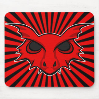 Red Fire Breathing Dragon Mouse Pad
