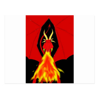 Red Fire Breathing Dragon Postcard