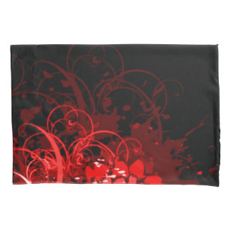 Red Floral Acrylic Abstract Pillowcase