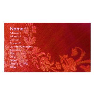 Red Floral Elegance  Artist I Business Card Business Cards