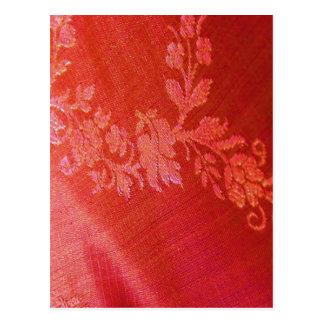 Red Floral Elegance I Postcard -  Customizable Postcards