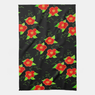 Red Floral Hand Towel