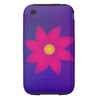 Red Flower in Space Art iPhone 3 Tough Cases